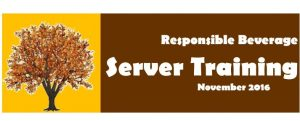 Responsible Beverage Server Training